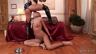 Bare headed hooker does everything Czech mistress Lucy Belle desires