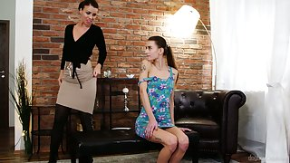 Young Czech babe Adele Unicorn is fucked and licked by doyenne lesbian