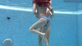 Hot lesbian copulation under the water is everything Lizi Vogue desires at all times day