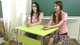 Adult tutor round jeans lets inclement Amanda plus her friend go wild