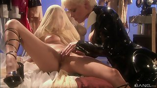 Missy Monroe and Celeste Star enjoy homoerotic licking until they both cum