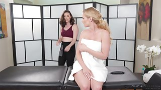 A sexy MILF gets the full treatment including a pinch ending massage